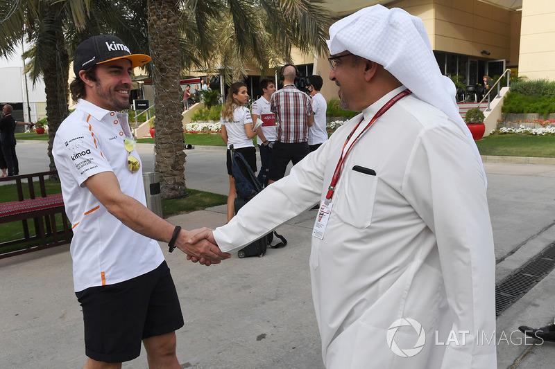 Fernando Alonso, McLaren y el Príncipe Heredero Shaikh Salman bin Hamad Al Khalifa