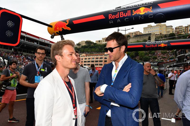 Nico Rosberg, embajador de Mercedes-Benz y Tom Brady, jugador de la NFL