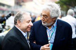 Jean Todt, Presidente, FIA. y Tenor Plácido Domingo