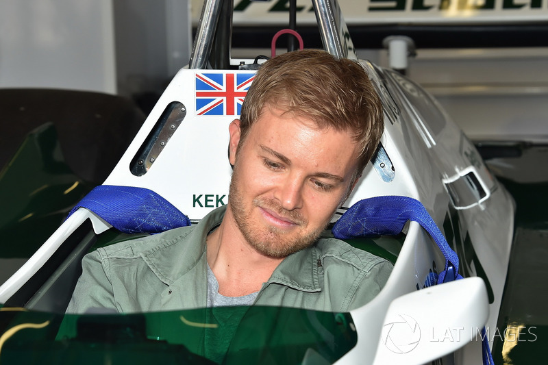 Nico Rosberg, in the Williams FW08 of his Father Keke Rosberg