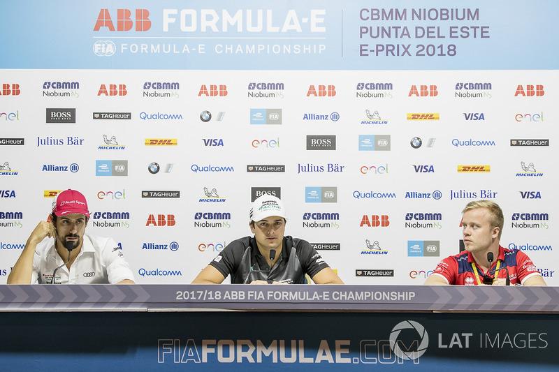 Lucas di Grassi, Audi Sport ABT Schaeffler, Nelson Piquet Jr., Jaguar Racing, Felix Rosenqvist, Mahi