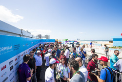 Alex Lynn, DS Virgin Racing, Andre Lotterer, Techeetah, speak to the media