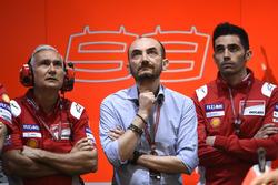 Davide Tardozzi, Team manager Equipo Ducati, Claudio Domenicali, CEO Ducati, Michele Pirro, Equipo Ducati
