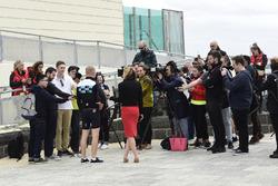 Valtteri Bottas, Mercedes-AMG F1 talks with the press