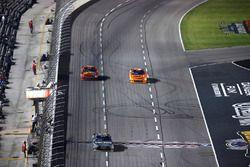 Erik Jones, Joe Gibbs Racing Toyota takes the green checkered flag for the first segment