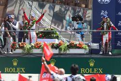 Third place #3 Rebellion Racing Rebellion R-13: Thomas Laurent, Mathias Beche, Gustavo Menezes