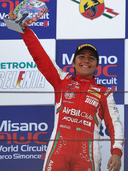 Le vainqueur Enzo Fittipaldi, Prema Theodore Racing