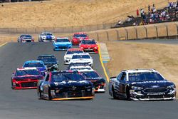Chris Buescher, JTG Daugherty Racing, Chevrolet Camaro Maxwell House Max and Aric Almirola, Stewart-Haas Racing, Ford Fusion Smithfield