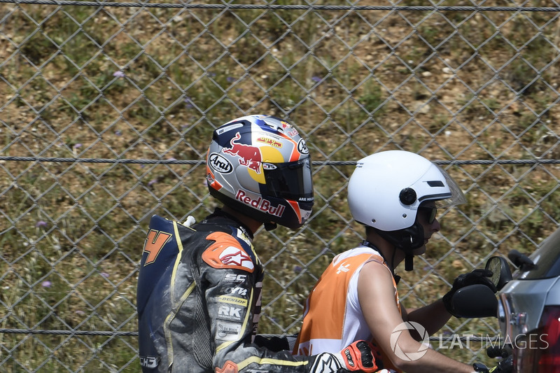 Bo Bendsneyder, Tech 3 Racing, dopo la caduta