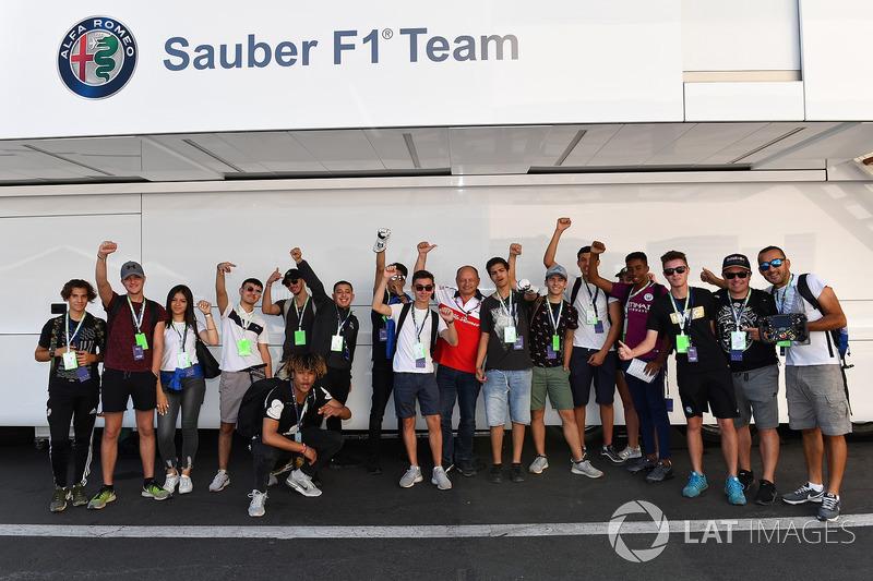 Des invités de Sauber