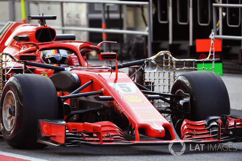 Sebastian Vettel, Ferrari SF71H con sensores