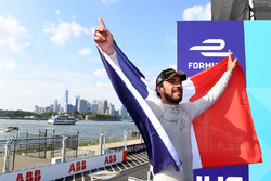 Jean-Eric Vergne, Techeetah, celebrates on the podium after winning the championship
