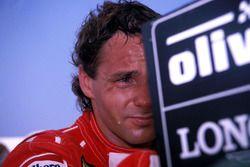 Brazil 1989: Gerard Berger, Ferrari