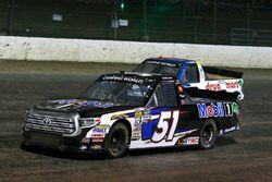 Logan Seavey, Kyle Busch Motorsports, Toyota Tundra Mobil 1 and Myatt Snider, ThorSport Racing, Ford F-150 Liberty Tax