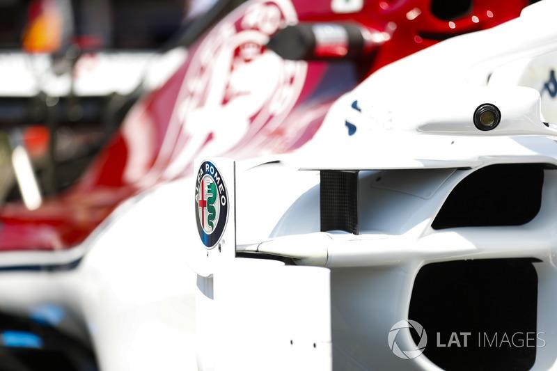 Le logo Alfa Romeo sur la Sauber