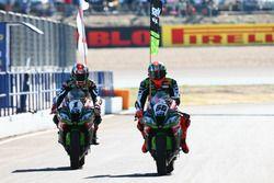 Racewinnaar Jonathan Rea, Kawasaki Racing, Tom Sykes, Kawasaki Racing