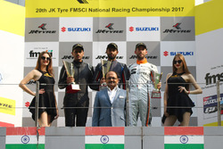 Podium: winner Anindith Reddy, second place Nayan Chatterjee, third place Lorenzo Pegoraro