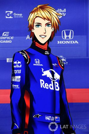 Изображение гонщика Scuderia Toro Rosso Брендона Хартли