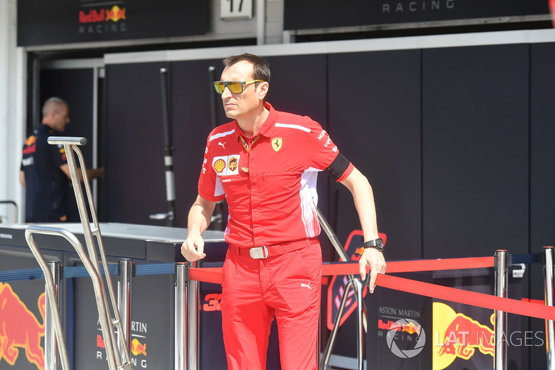 Riccardo Adami, ingeniero de carreras de Ferrari