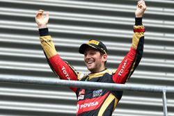 Podium: derde plaats Romain Grosjean, Lotus F1 Team