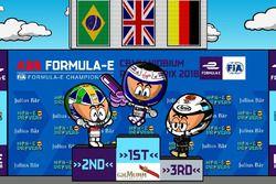 El podio del ePrix de Roma 2018 de Fórmula E, por MinEDrivers