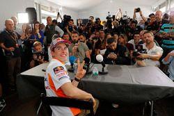 Marc Marquez, Repsol Honda Team with the media