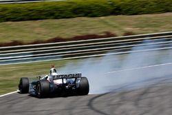 Josef Newgarden, Team Penske Chevrolet spins