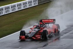 Arie Luyendyk Jr. en Channing Tatum pre-race rit in de Honda tweezitter IndyCar