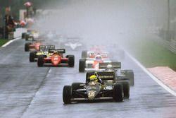 Ayrton Senna, Lotus 97T, al comando alla partenza