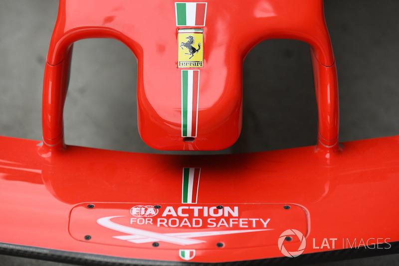 Detail hidung Ferrari SF71H