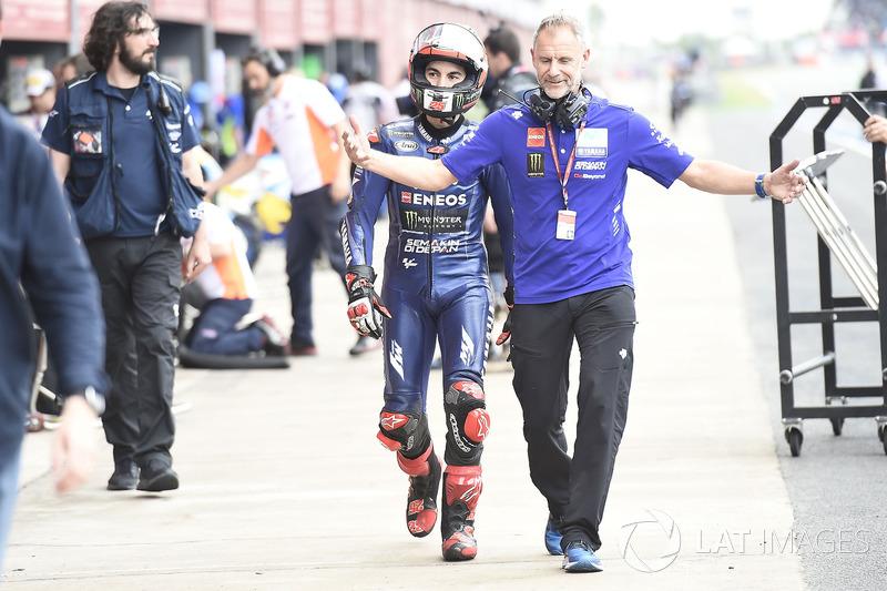 Maverick Viñales, Yamaha Factory Racing, Zeelenberg reinicio fiasco