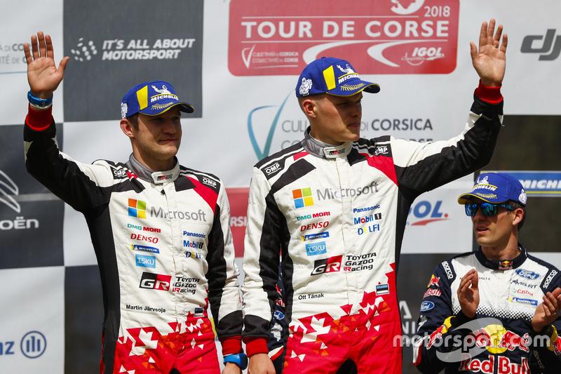 Podio: al secondo posto Ott Tänak, Martin Järveoja, Toyota Gazoo Racing WRT Toyota Yaris WRC
