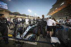 Valtteri Bottas, Mercedes AMG F1 W09, on the grid