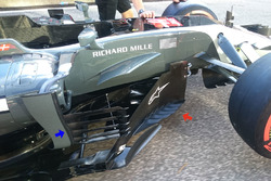 Haas F1 Team VF-17 barge boards