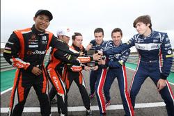#22 G-Drive Racing, Oreca 07 - Gibson: Memo Rojas, Ryo Hirakawa, Leo Roussel, #32 United Autosports,