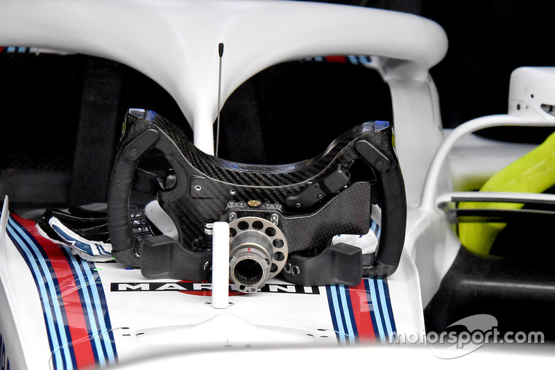 Руль Williams FW41 Роберта Кубицы