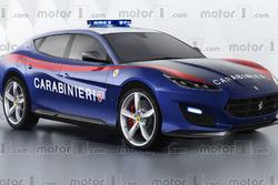 Concept SUV Ferrari police italienne