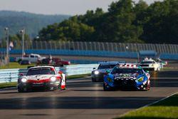 #912 Porsche Team North America Porsche 911 RSR, GTLM: Laurens Vanthoor, Earl Bamber, #33 Riley Motorsports Mercedes AMG GT3, GTD: Jeroen Bleekemolen, Ben Keating, Luca Stolz
