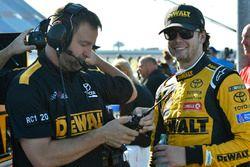 Erik Jones, Joe Gibbs Racing, Toyota Camry DeWalt and Chris Gayle