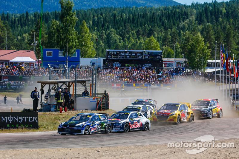 Petter Solberg, PSRX Volkswagen Sweden VW Polo Gti, Andreas Bakkerud, EKS RX Audi S1
