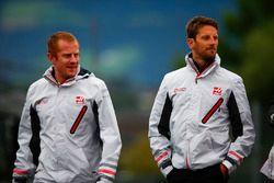 Romain Grosjean, Haas F1 Team, loopt een rondje over het circuit