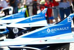 I cofani motore delle monoposto di Sébastien Buemi, Renault e.Dams, Nicolas Prost, Renault e.Dams
