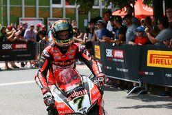 Chaz Davies, Aruba.it Racing-Ducati SBK Team au Parc Fermé
