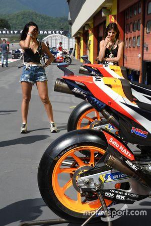 Bike detail of Marc Marquez, Repsol Honda Team