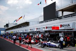 Cars in pitlane