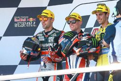 Podium: winner Sam Lowes, Federal Oil Gresini Moto2, second place Jonas Folger, Dynavolt IntactGP, third place Alex Rins, Paginas Amarillas HP 40
