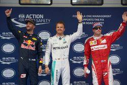Polesitter Nico Rosberg, Mercedes AMG F1 Team; 2. Daniel Ricciardo, Red Bull Racing; 3. Kimi Räikkön