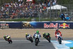 Eugene Laverty, Aspar MotoGP Team und Andrea Dovizioso, Ducati Team