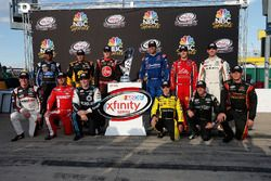 Chase contenders: Erik Jones, Joe Gibbs Racing Toyota, Elliott Sadler, JR Motorsports Chevrolet, Daniel Suarez, Joe Gibbs Racing Toyota, Ty Dillon, Richard Childress Racing Chevrolet, Justin Allgaier, JR Motorsports Chevrolet, Darrell Wallace Jr., Roush Fenway Racing Ford, Brendan Gaughan, Richard Childress Racing Chevrolet, Brennan Poole, Chip Ganassi Racing Chevrolet, Ryan Sieg, RSS Racing Chevrolet, Ryan Reed, Roush Fenway Racing Ford, Brandon Jones, Richard Childress Racing Chevrolet, Blake Koch, Chevrolet