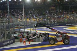 El Sahara Force India F1 VJM09 de Nico Hulkenberg, Sahara Force India F1 es quitado del circuito